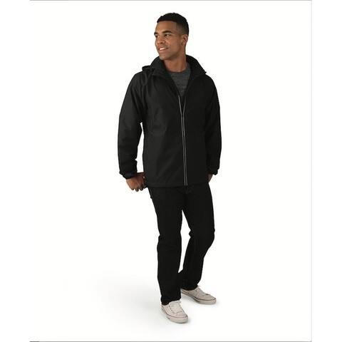 Charles River Men's Full Zip Reflective Jacket, Wind/Rain Resistant