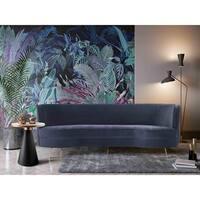 TOV Flare Dark Grey Velvet Sofa