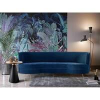 Flare Navy Velvet Sofa