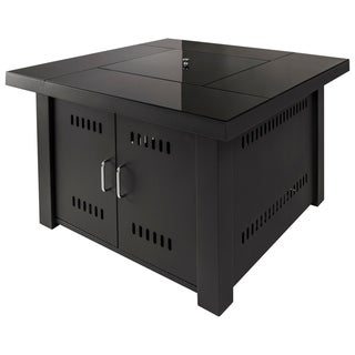 Havenside Home Hearth Sheridan Black Steel Gas Fire Pit Table