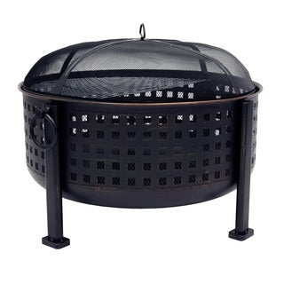 "Pleasant Hearth OFW821RC Langston 30"" Deep Bowl Fire Pit"