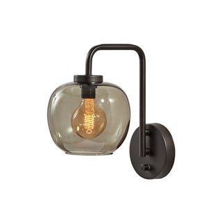 Link to Carbon Loft Wiig Matte Black with Smoked Glass Wall Lamp Similar Items in Sconces