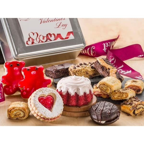 Shop Valentines Day Tin Gift Box Gourmet Desserts Romantic Gift