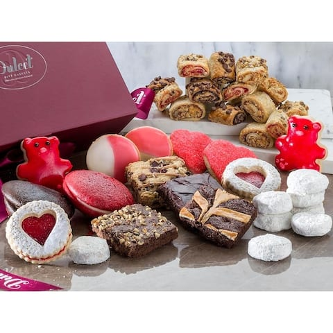 Gourmet Valentines Gift Box filled with Chocolate Brownie Cookies, Great for Parties,Events and Family Gatherings