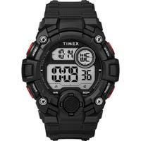 Timex Men's TW5M27600 A-Game DGTL 50mm Black/Red Resin Strap Watch