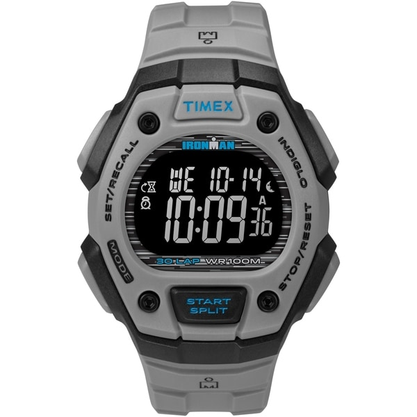 c6e36dc0a Shop Timex Men's TW5M24300 Ironman Classic 30 Gray/Black/Negative Resin  Strap Watch - Free Shipping On Orders Over $45 - Overstock - 26959373