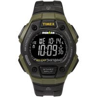 Timex Men's TW5M24200 Ironman Classic 30 Black/Green/Negative Resin Strap Watch - N/A