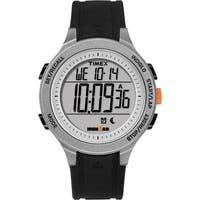 Timex Men's TW5M24600 Ironman Essential 30 Black/Gray/Orange Silicone Strap Watch