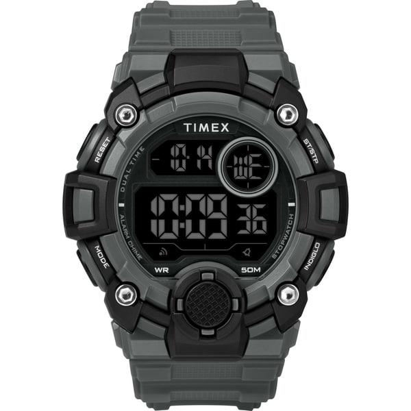 Timex Men's TW5M27500 A-Game DGTL 50mm Gray/Black Resin Strap Watch - N/A