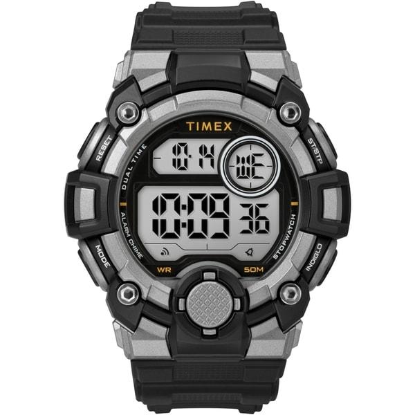 Timex Men's TW5M27700 A-Game DGTL 50mm Black/Gray/Orange Resin Strap Watch - N/A