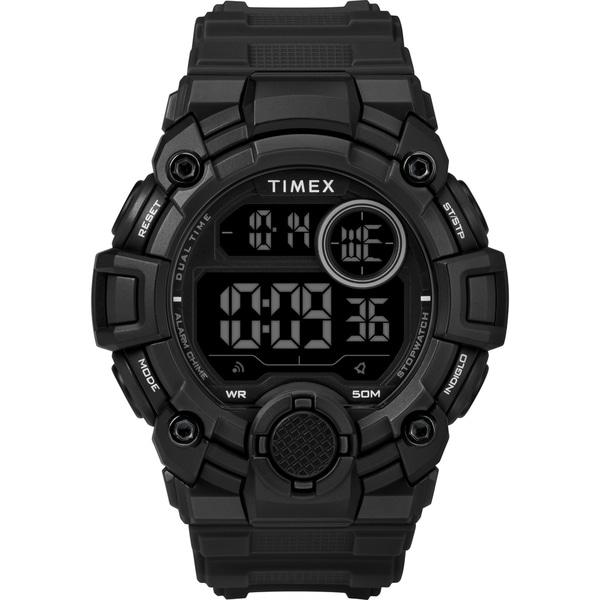 Timex Men's TW5M27400 A-Game DGTL 50mm Black Resin Strap Watch - N/A