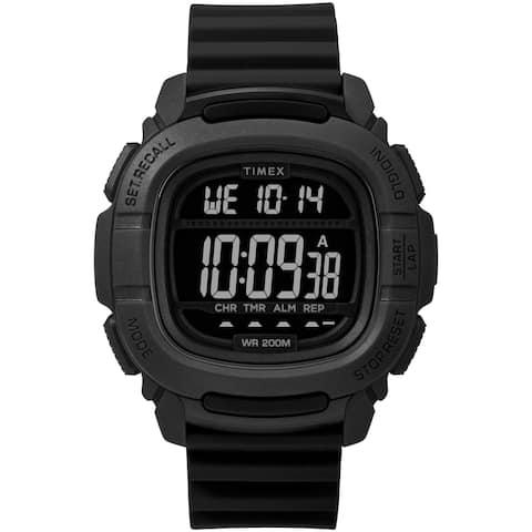 Timex Men's TW5M26100 BST.47 Black Silicone Strap Watch