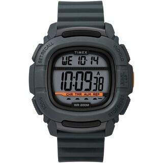 Timex Men's TW5M26700 DGTL Boost 47mm Gray Silicone Strap Watch - N/A