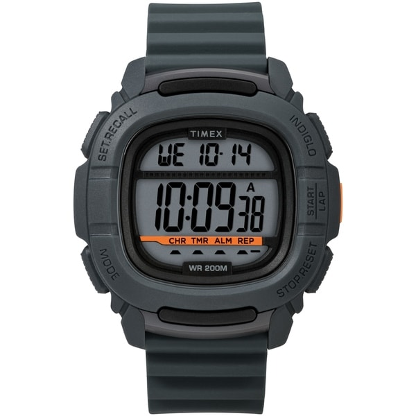 Timex Men's TW5M26700 BST.47 Gray Silicone Strap Watch - N/A