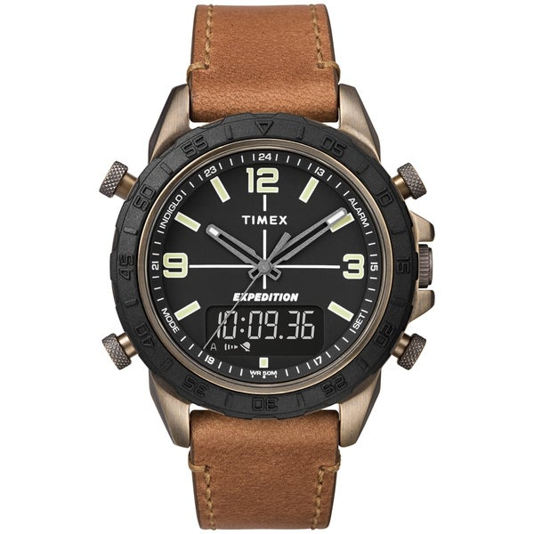 948330a3f Timex Men's TW4B17200 Expedition Pioneer Combo 41mm Tan/Black Leather  Strap