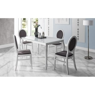 PALMETTO Glass Top Extendable Dining Table