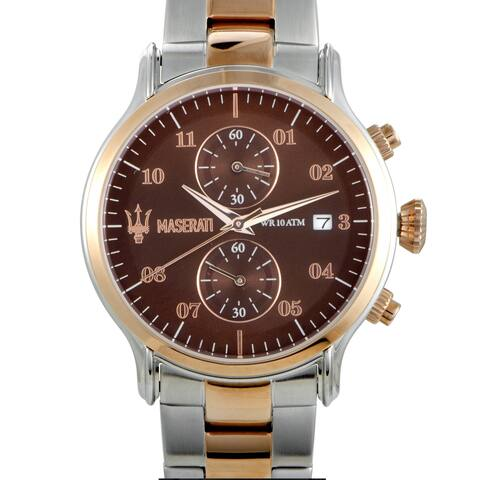 Maserati Epoca Chronograph Brown Dial Watch R8873618001