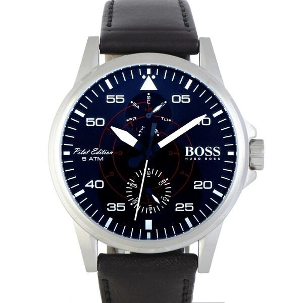 6243deabb255 Shop Hugo Boss Aviator Casual Sport Men s Watch Blue 1513515 - Free ...