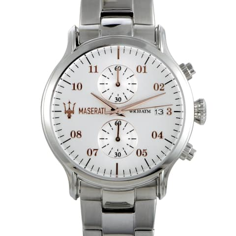 Maserati Epoca Chronograph Silver Dial Watch R8873618002