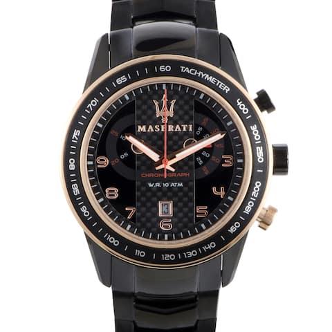 Maserati Corsa Black Stainless Steel 46mm Watch R8873610002