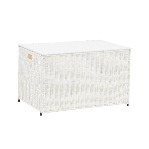 Household Essentials Large KD Chest in Paper Rope Artic White