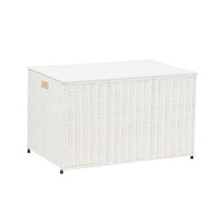 Household Essentials Large KD Chest in Paper Rope Artic White - N/A