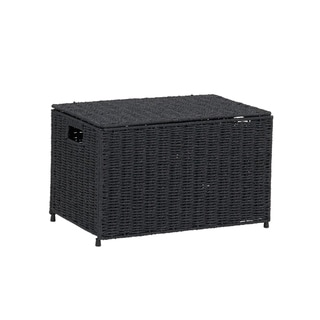 Household Essentials Small KD Chest in Paper Rope Black