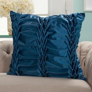 Mina Victory Velvet Ruffle Pleats Throw Pillow