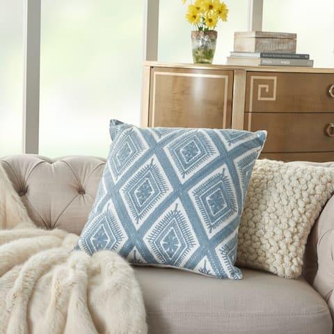 Mina Victory Crochet Diamond Ocean Throw Pillow