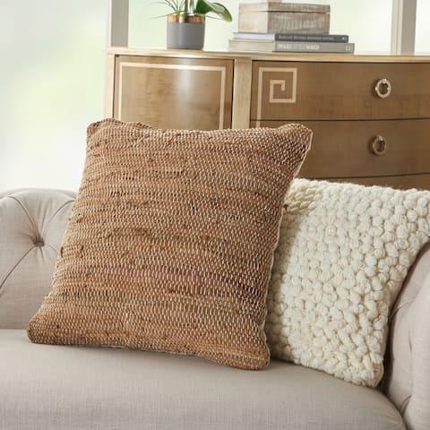 Mina Victory Life Styles Stonewash Solid Throw Pillow