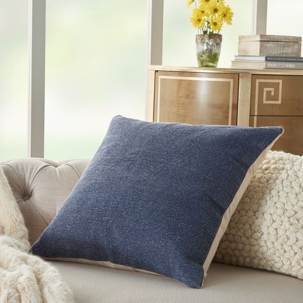 Mina Victory Life Styles Solid Navy Throw Pillow
