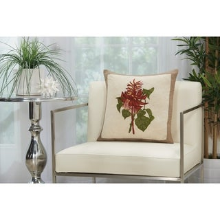 Mina Victory Natural Wildflower Bouquet Throw Pillow