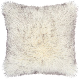 Link to Mina Victory Grey Tip Dyed Faux Fur Throw Pillow Similar Items in Decorative Accessories