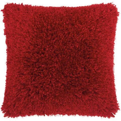 Mina Victory Shag Red Lush Yarn Throw Pillow
