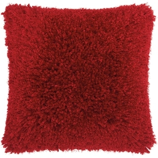 Link to Mina Victory Shag Red Lush Yarn Throw Pillow Similar Items in Decorative Accessories