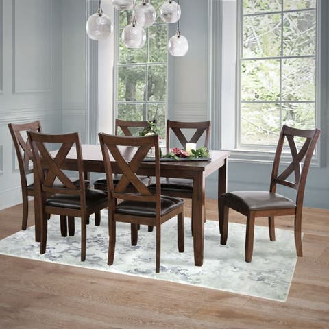 Abbyson Theodore 7 Piece Dining Set