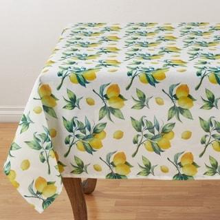 Table Topper With Lemon Print Design