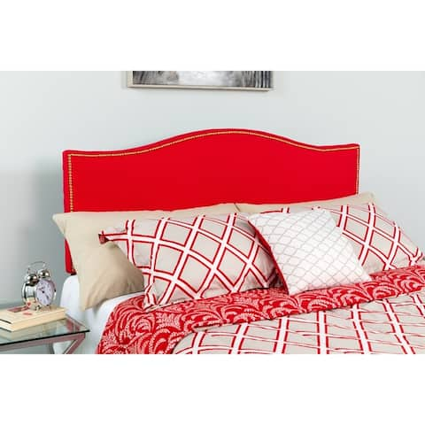 Porch & Den Stockton Headboard with Nail Trim