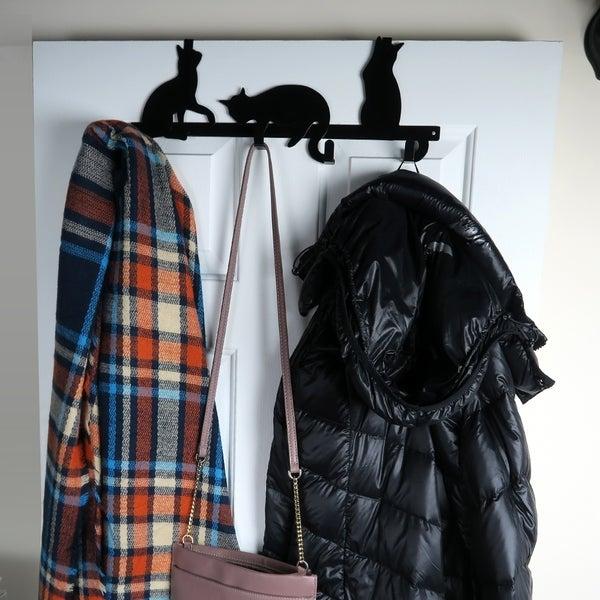 Shop Evelots Cat Over Door Hanger Rack Coat Towel Purse 4