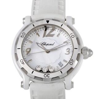 Chopard Happy Sport Ceramic Womens Quartz Watch 288507-9020