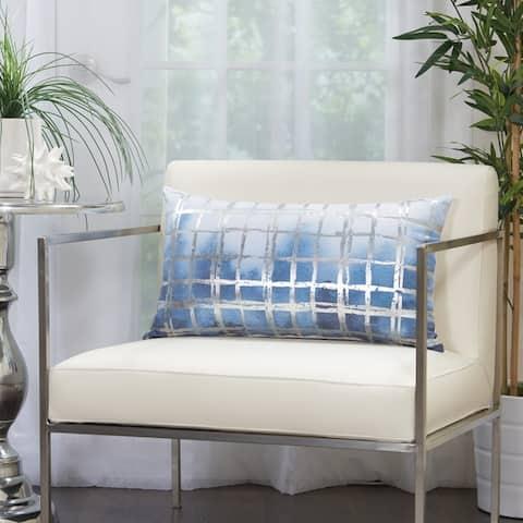 Mina Victory Metallic Grid Glam Throw Pillow