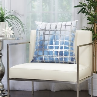 Mina Victory Metallic Grid Glam Throw Pillow