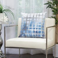 Nourison Mina Victory Metallic Grid Glam Throw Pillow
