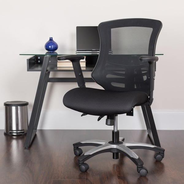 High Back Black Mesh Multifunction Ergonomic Swivel Chair with Adjustable Arms