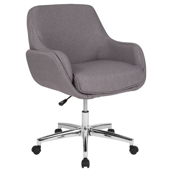 Home and Office Upholstered Mid-Back Molded Frame Chair
