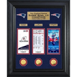 New England Patriots Road to Super Bowl 53 Deluxe Gold Coin & Ticket Collection - Multi-Color