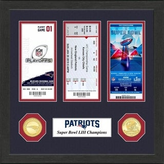 New England Patriots Road To Super Bowl 53 Ticket Collection Multi Color