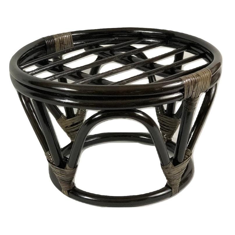Remarkable International Caravan Papasan Rattan Footstool Frame Cjindustries Chair Design For Home Cjindustriesco