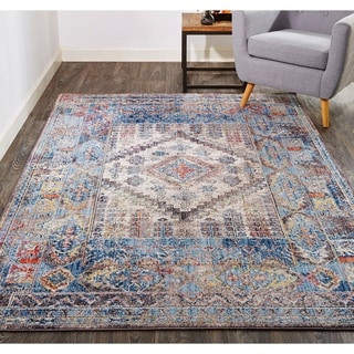Porch & Den McGraw Multicolor Geometric Medallion Area Rug