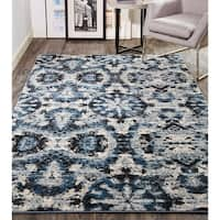 Grand Bazaar Tullamore Charcoal/Blue Rug
